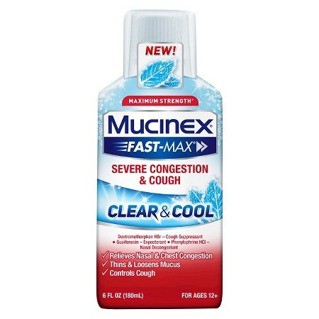 Image 0 of Mucinex Fast-Max Clear & Cool Severe Congestion / Cough Liquid 6 Oz
