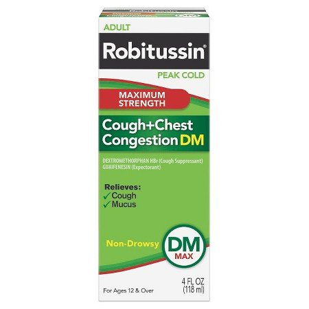 Image 0 of Robitussin Dm Maximum Strength Cough Chest Congestion 4 Oz