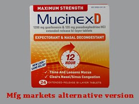 Mucinex D Maximum Strength Pse 24 Tablet