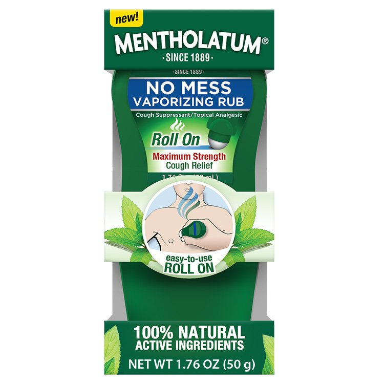 Image 0 of Mentholatum No Mess Vapor Rub 1.96 Oz