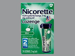 Image 0 of Nicorette 2 Mg Mint 24 Lozenge