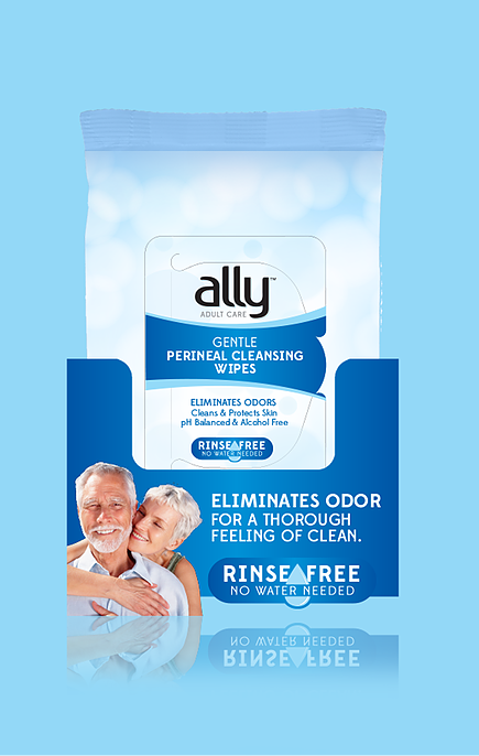 Ally Bathing Perineal Cleansing Gentle Wipes 5 x 60