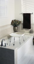 Bath Bench With Holder for Hand Held Shower