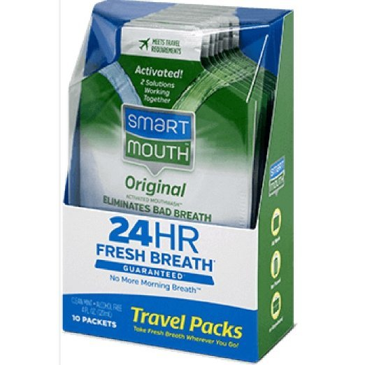 Smartmouth 24 Hour Fresh Breath Travel Pack 10 Ct