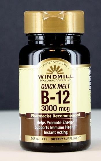 Image 0 of WindMill Vitamin B12 3000 Mcg 60 Quick Melts