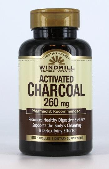 Activated Chara coal 260 Mg 100 Capsules