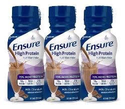 Ensure Active Hi Protein Muscle Chocolate 4 x 6 x 8 Oz
