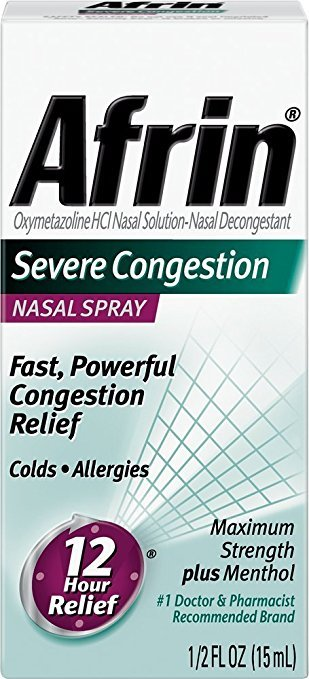 Afrin Original Severe Congested Relief Spray 15 Ml