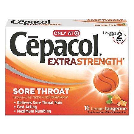 Image 0 of Cepacol Lozenges Extra Strength Tangerine 16 Ct