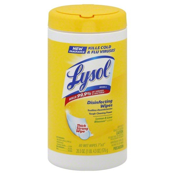Image 0 of Lysol Disinfectant Wipe Lemon Lime Blossom 80 Ct