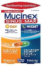 Mucinex Sinus Maximum Day Night Congestion 24 Liqui Gels