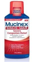 Mucinex Sinus Max Sever Congestion Relief Liquid 6 Oz