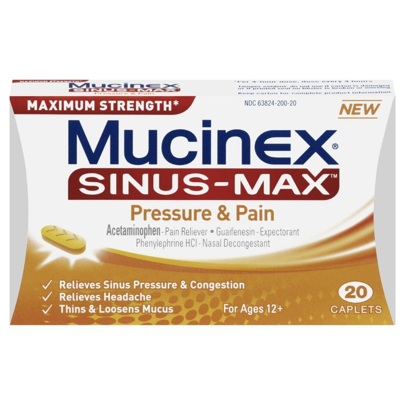 Mucinex Sinus Max Pressure Pain 20 Tablet