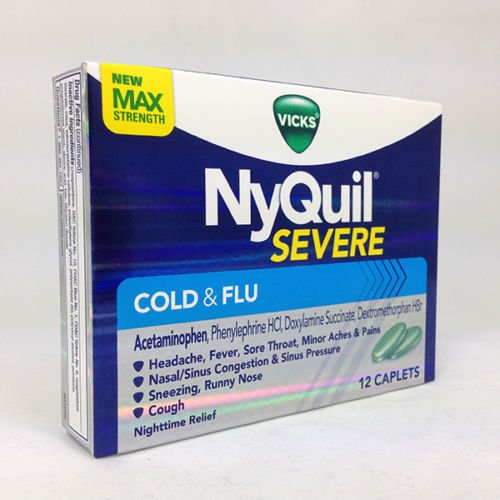Image 0 of Nyquil Severe Cold & Flu 12 Caplets