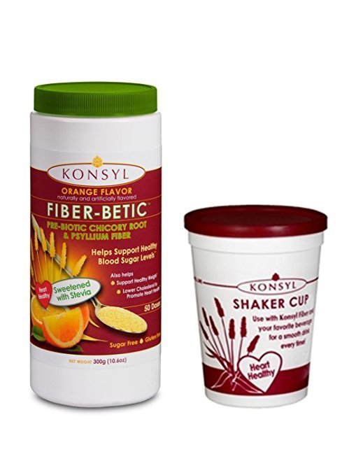 Konsyl Fiber-Betic Orange Sugar Free Stevia 300 Gm