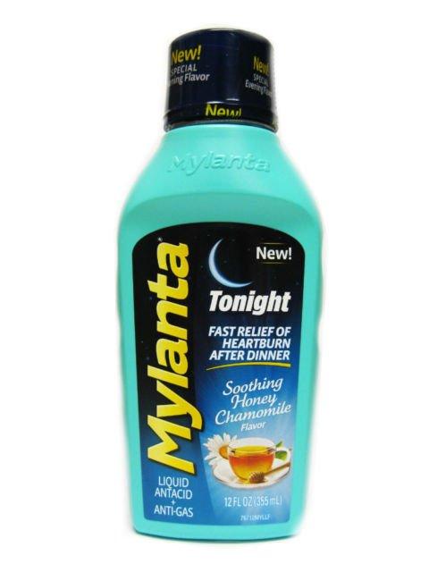 Mylanta Antacid Tonight Maximum Honey Liquid 12 Oz