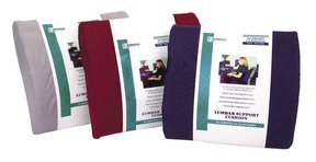 Essential Medical Supply Lumbar Cushion With Strap Navy