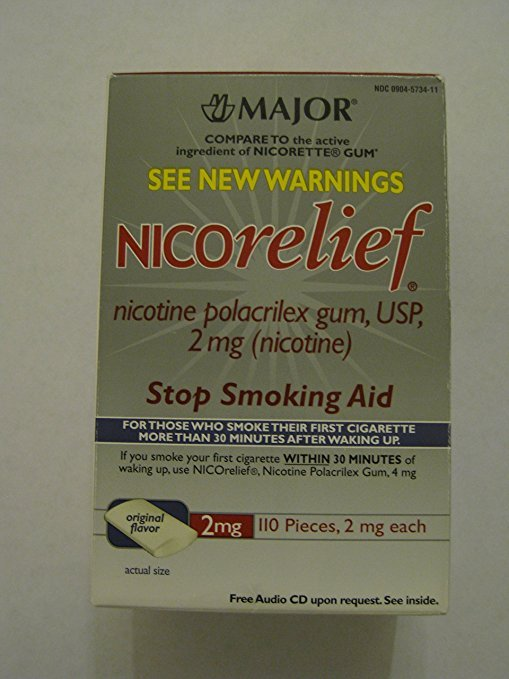 Image 0 of Nicorelief 2 Mg Gum Mint 110 Ct