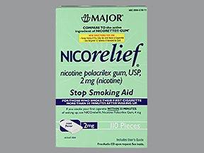 Image 0 of Nicorelief 2 Mg Gum Mint 110 Ct