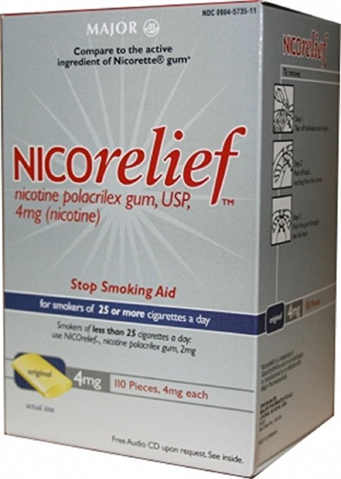 Image 0 of Nicorelief 4 Mg Gum 110 Ct