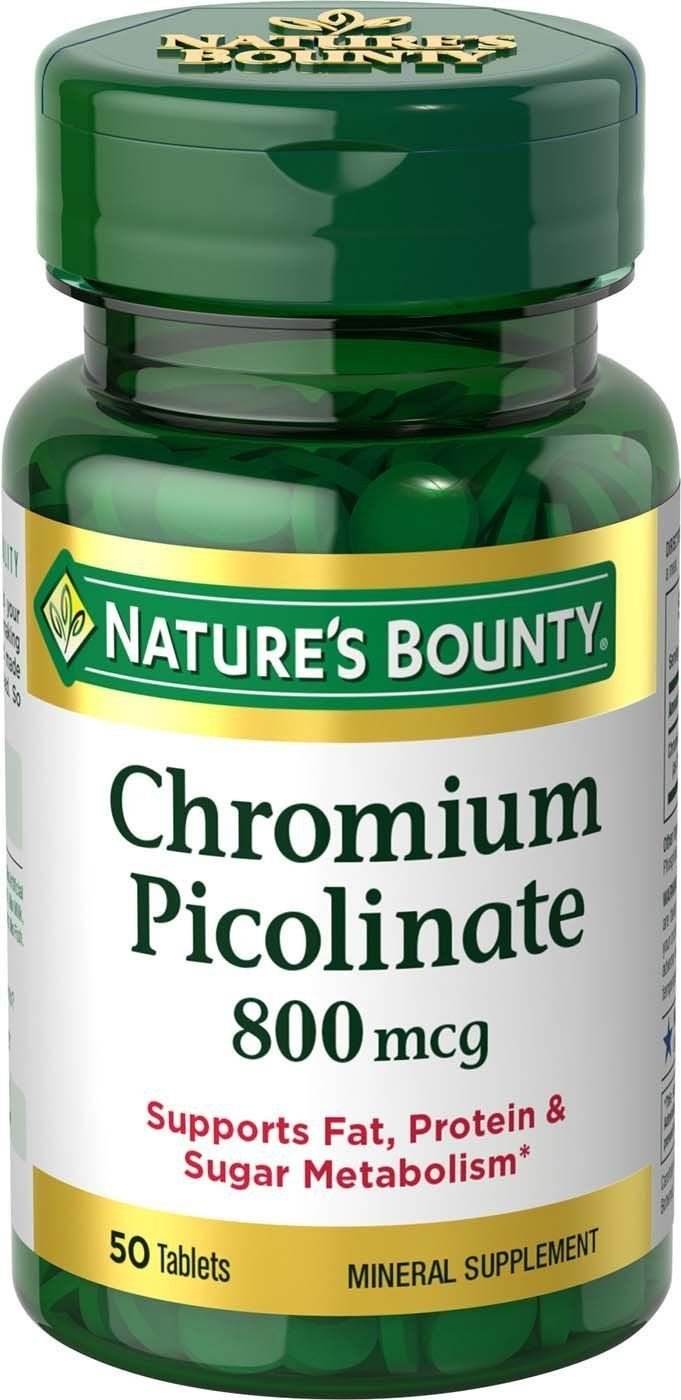 Chromium Picol 800 Mcg 50 Tablet By Nature's Bounty