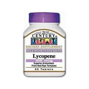 Lycopene 25 Mg Maximum Strength 60 Tablet By 21St Century