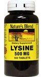 Lysine 500 Mg 100 Tablet By National Vitamins
