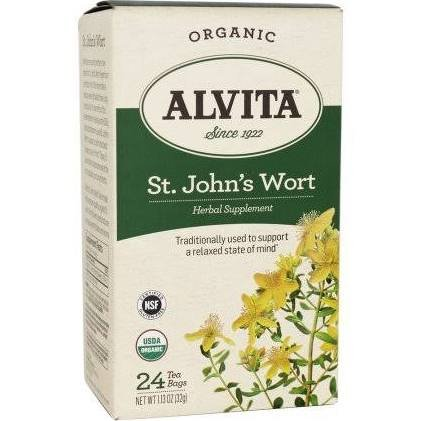 Organic Tea St. Johns Wort 24 Bags By Alvita
