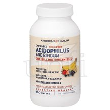 Acidophilus Chew able Assorted Fruit Flavors 100 Wafers By American Health