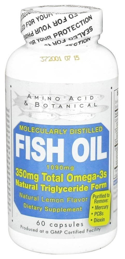 Amino Acid & Botanical Fish Oil 1090 Mg 60 Capsules