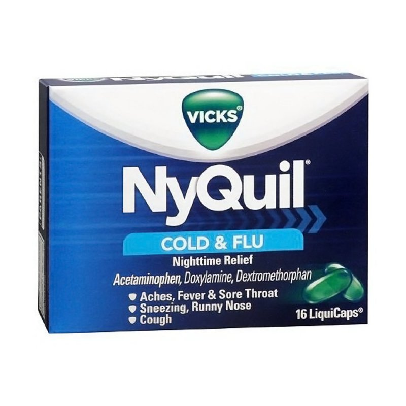 Image 0 of Nyquil Cold Flu Liquid Caps 16