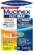 Image 0 of Mucinex Fast Max Day/Nite Cold Flu 24 Liqui Gels