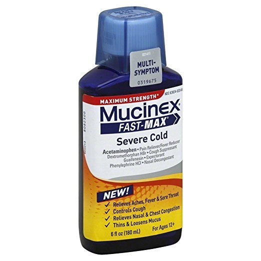 Mucinex Fast Max Severe Cold Liquid 6 Oz