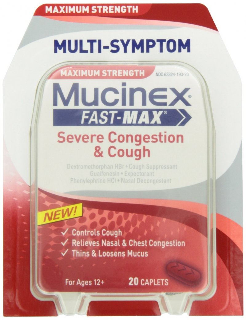 Mucinex Fast MAx Severe Congestion Cough 20 Caplets