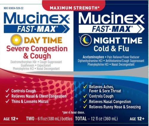 Mucinex Fast MAx Clear & Cool Day & Night 2 x 6 Oz