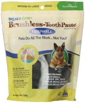 Ark Naturals Brushless Toothpaste Large Chews 30 Ct