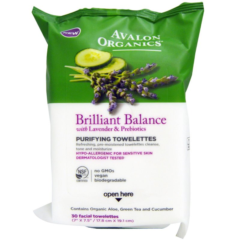 Avalon Brilliant Balance Purifying Towelettes 6 x 30 Ct