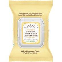 Babo Botanical Face Wipes 3/1 Oatmilk 4 x 30 Ct