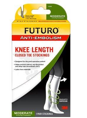 Futuro Anti Embolism Knee Length Closed Toe Stocking