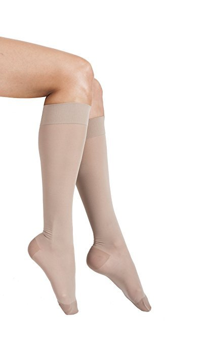 Compression Knee High Sheer Nude 20-22 Lg Drops