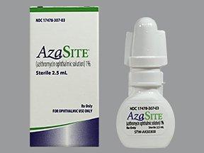 Azasite 1% eye Drop 2.5 Ml By Akorn Inc