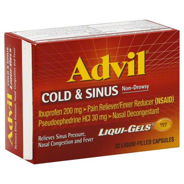 Advil Cold Sinus Pse 32 Liqui Gel Caps
