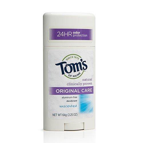Tom's of Maine Unscented Deodorant Stick 2.25 Oz