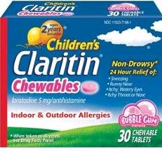 Claritin Child 5 Mg 24Hr 30 Bubble Game Chewable