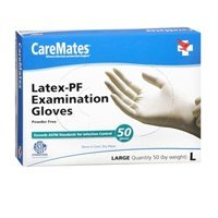 Caremate Latex Powder Free Glove Large 50 Ct