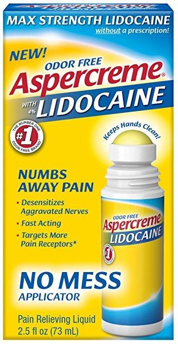 Aspercreme Lidocaine No Mess Roll On 2.5 Oz