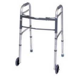 Kd Folding Walker With Wheels Dropship