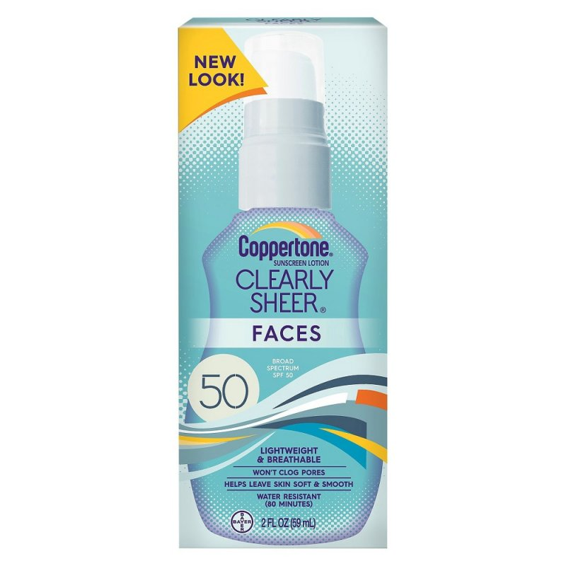 Coppertone SPF 50 Clear Sheer Face Lotion 2 Oz