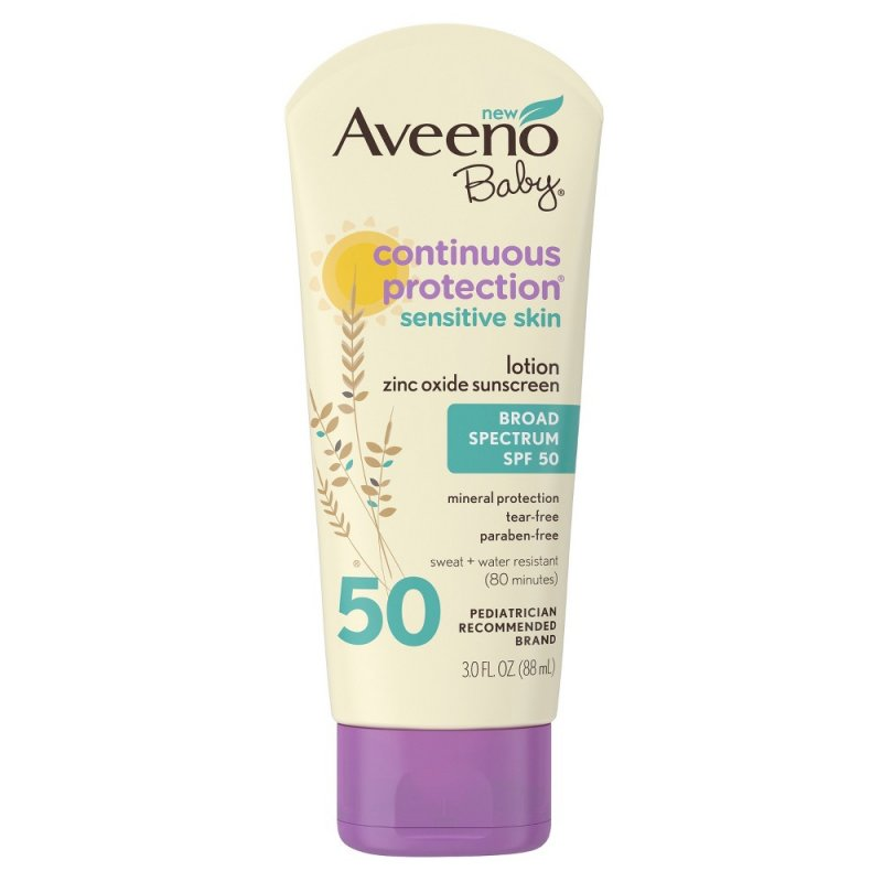 Aveeno SPF 50 Continuous Protection Zinc Lotion 3 Oz