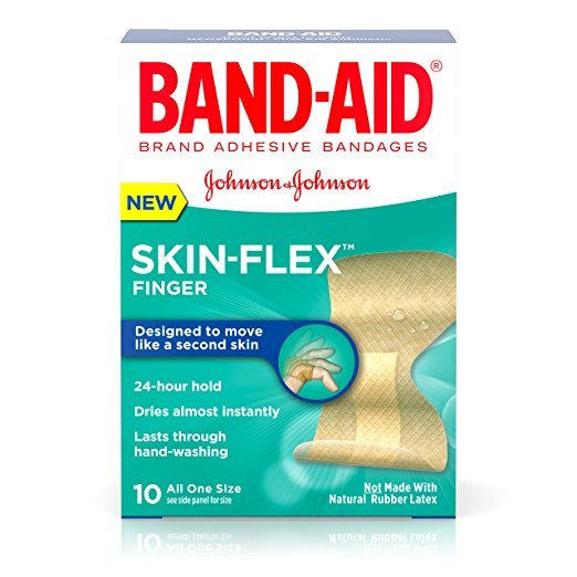 Band Aid Skin Flex Finger Bandage 10 Ct